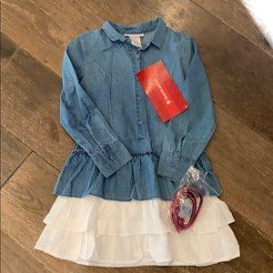American Girl (size 7) western chambray dress NWT